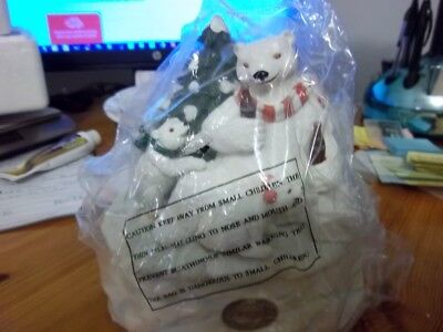 Coca-Cola-1994 Heritage Collection Polar Bear Friends Music Box
