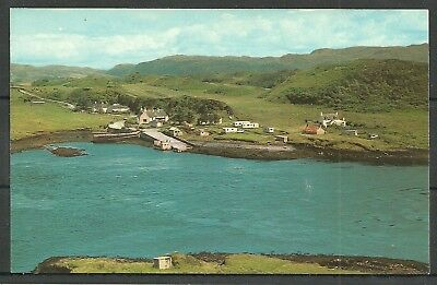Postcard : Nr Oban Cuan and jetty Seal Island aerial view from Luing Argyll