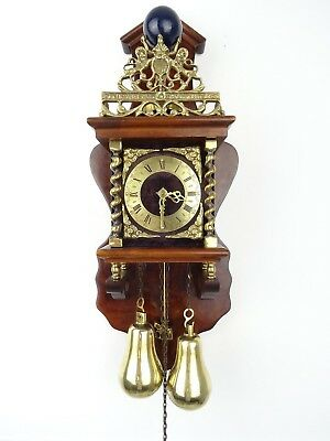 Zaanse Dutch Wall Clock Vintage Antique (Warmink WUBA Hermle Junghans Era)