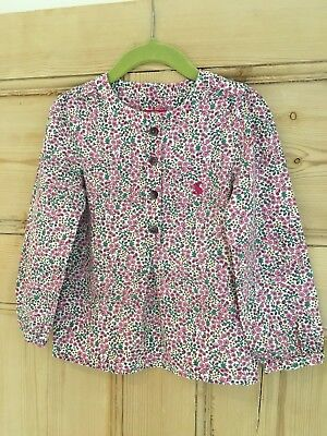 Joules Liberty Floral Pink 4 Years Girl Top Shirt - Stunning