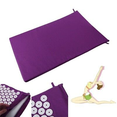 Back Neck pain relief acupressure Yoga mat with pillow + carrying bag massage