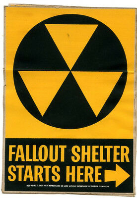 Two Original Department of Defense Decals, DOD FS NO. 2 Nuclear Fallout Shelter