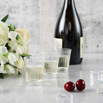 3 oz Disposable Clear Drink or Dessert Cups PLASTIC GLASSES Wedding TABLEWARE