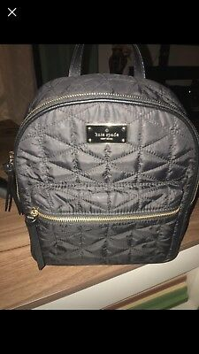 Kate Spade New York Blake Avenue Small Bradley Black Quilted Backpack $279