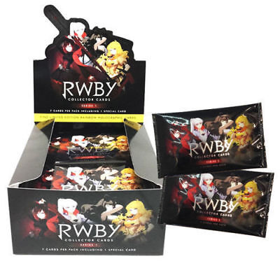 RWBY Collector Cards Series 1 Factory Sealed Box 36 Packs 252 Individual cards