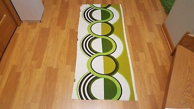 Awesome RARE Vintage Mid Century retro 70s lime green circle drop fabric! LOOK!