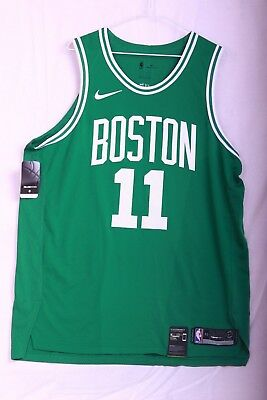 hot sale online f20e3 cd7c2 NIKE AUTHENTIC BOSTON Celtics Kyrie Irving Road Green Jersey 863015 316 Sz  48-52