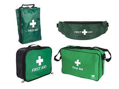 Empty green first aid bag compartment mesh - riga bum, shoulder sling style