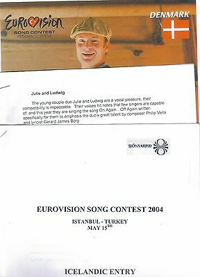 Eurovision Song Contest 2004, Denmark, Malta and Iceland press information