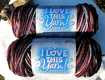 NEW COLOR OF I LOVE THIS YARN! by Hobby Lobby - CIAO (2) 5 oz ea