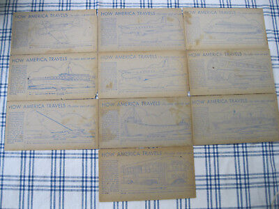 LOT of 10 1940's Nabisco Shredded Wheat - How America Travels cards Group C