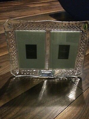 Waterford Crystal Lismore Double Picture Photo Frame