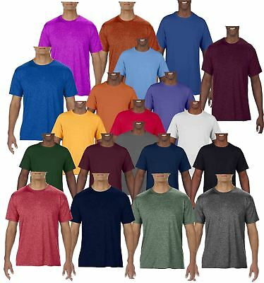 Gildan Mens Adult Core Plain Rounded Neck T-Shirts 100% Polyester