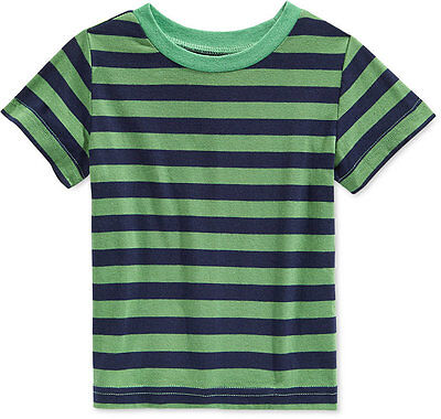 First Impressions Baby Boys' Stripe T-Shirt,Paradise Green, Size 3-6 Months