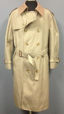 BROOKS BROTHERS Beige Double Breasted Removable Lining Trench Coat Sz XL FF5081