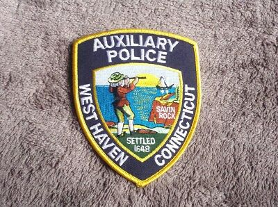 West Haven Connecticut Auxiliary Police Shoulder Patch