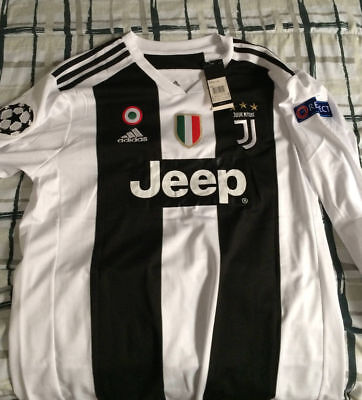 competitive price fd100 c8da1 RONALDO JUVENTUS CHAMPIONS League 18/19 Home shirt Jersey Long Sleeved ANY  NAME
