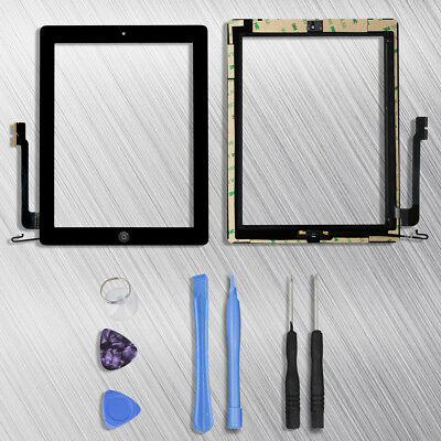 Glass Touch Screen Digitizer Replacement For iPad 4 4th black Tools Adhesive