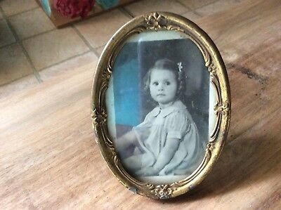 Antique Small Picture Frame With Beautiful Child
