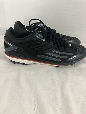 timeless design daca0 01dec New Men s ADIDAS Energy Boost Icon D73929 Baseball Cleats Black Red White  Sz 13