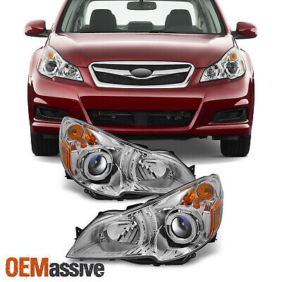 Fit 10-12 Subaru Legacy / Outback Clear Headlights Driver +Passenger Replacement