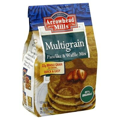 Arrowhead Mills Pancake and Waffle Mix - Natural Multigrain - Case of 6 - 26 oz.