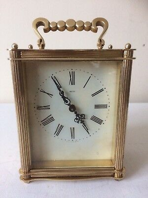 Stunning SMITHS Brass 8 Day Carriage Clock with Floating Balance Working