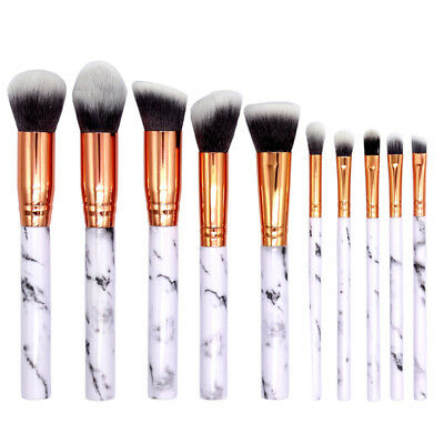 10pcs Pro Makeup Brushes Set Blush Powder Foundation Eyeshadow Kabuki Brush Kit