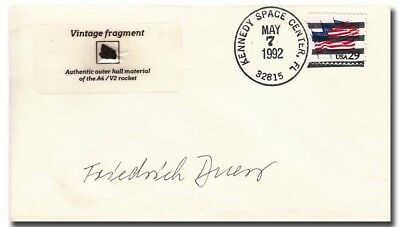 Peenemunde scientist F. Duerr handsigned V2 fragment cover  - 9g276
