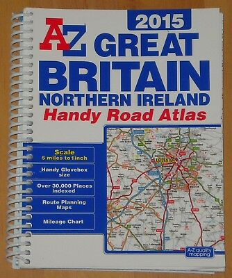 A to Z Great Britain Road Atlas , 5 miles to 1 inch, Handy size