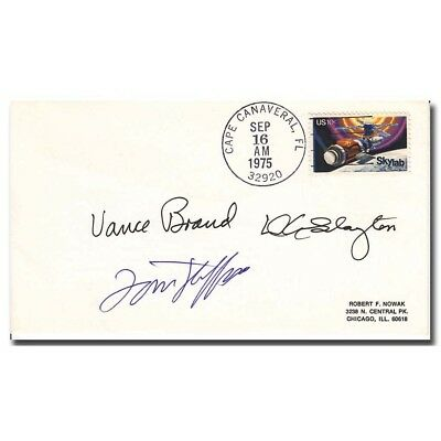 ASTP US crew handsigned CC sept. 16th 1975 cover - 8g186