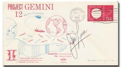 James Lovell handsigned Gemini 12 CC launch cover - Swanson - 4g58
