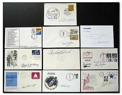 Collection of 10 mostly unidentified Astrocandidates handsigned items -9g176