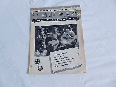 "1950'a Westinghouse ""How to use Electric Welding on the Farm"" Application Data"