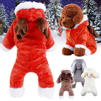 Winter Warm Pets Dogs Clothes Puppy Outfit Coats Costume Fleece Fancy Dress up