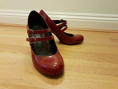George Size 4 Red Patent Mary Jane Shoes