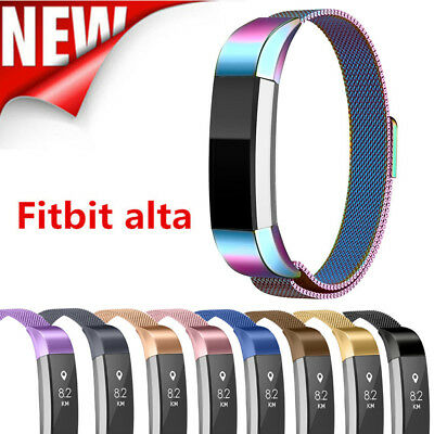 Girl Women Kids SS Steel Milanese Mesh Wrist Band XS/S/L For Fitbit Alta/HR/Ace