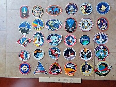 (30) Different NASA SPACE SHUTTLE Mission Crew Astronaut Stickers Decals Lot #2