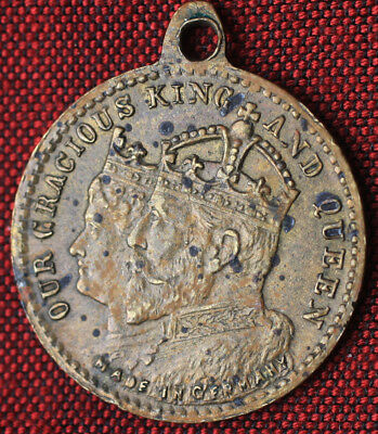 1902 Coronation of Our Gracious King Edward VII & Queen Alexandra U.K. Pendant