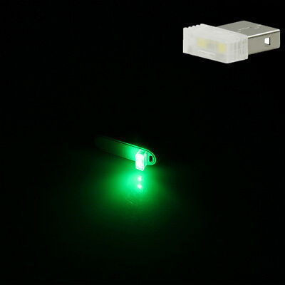 New Green Mini USB LED Light Wireless Car Interior Atmosphere Ambient Neon Lamp