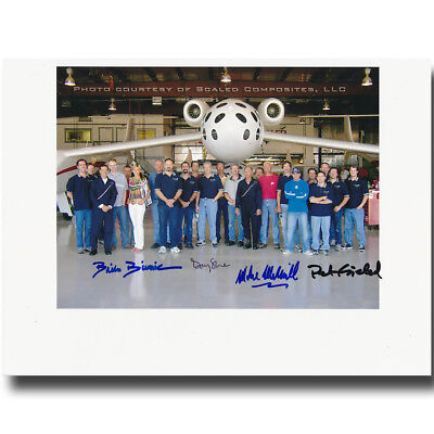 SpaceShip One pilots handsigned 8x10 group glossyphoto - 8g556