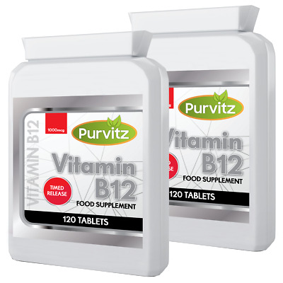 Vitamin B12 Tablets 240 High Strength 1000mcg Methylcobalamin Purvitz UK