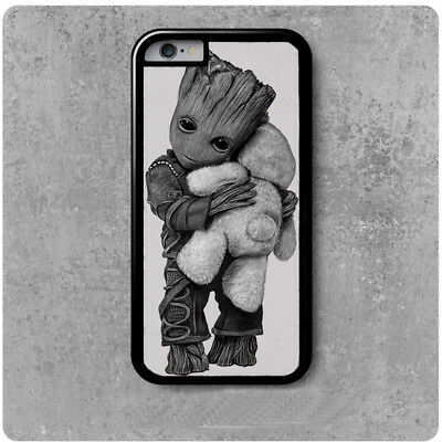 coque Iphone 4/5/6/7/8/X Les gardiens de la galaxie Bébé groot calin ourson