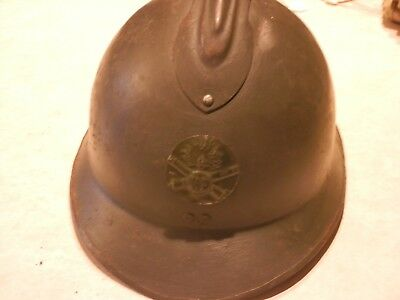 French WW1 Adrian Artillery Helmet with Liner