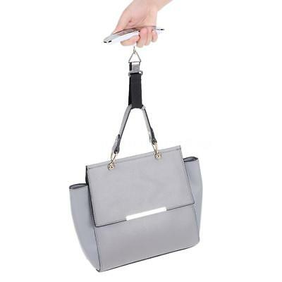 Digital Hanging Luggage Pocket Weight Scale Belt Weigh in Hand 50kg Silver W8L0