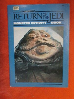 Star Wars Return of the Jedi Monster Activity Book by Happy House (1983 Pub)