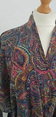 70s ST MICHAEL Marks Spencer Cotton Dressing Grown- Liberty Print? - Chest 40-42