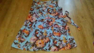 Ladies Dress From Joe Browns Size 18, Floral, Wrap Style