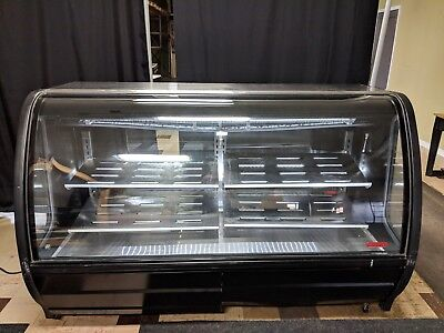 74'' Curved Glass Refrigerated Deli Case, US 2015, Great condition, new LED