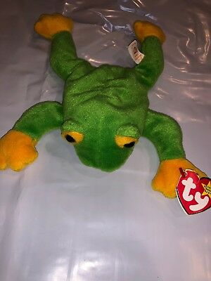 fbe86259c08 TY BEANIE BABIES Smoochy Frog Green NEW Free Shipping -  5.98
